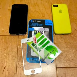 iPhone 5 Cases + Glass Screen Protector